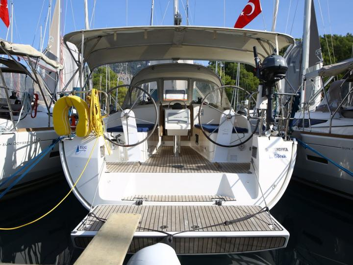 Private boat for rent in Göcek, Turkey, for up to 4 guests.