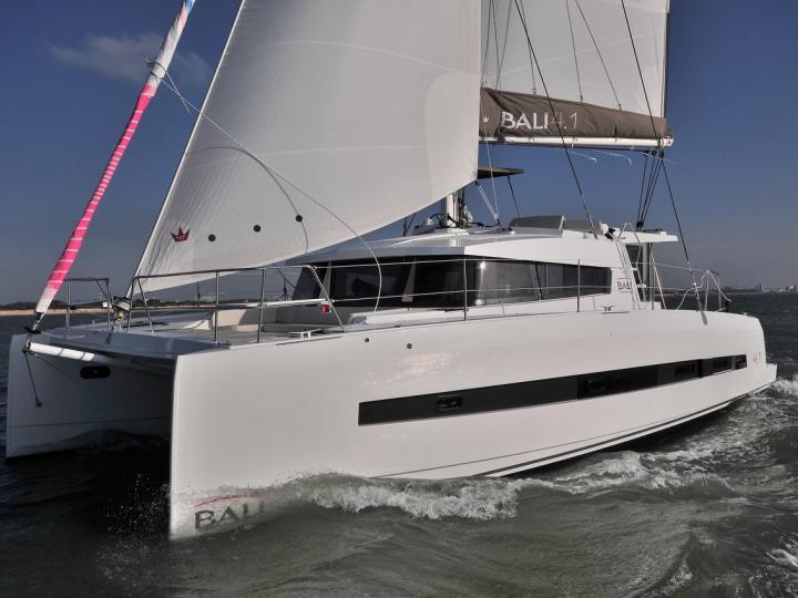 Rent a 40ft, 3 cabins catamaran in Sant Antoni de Portmany, Ibiza, Spain and enjoy a boat trip like never before.