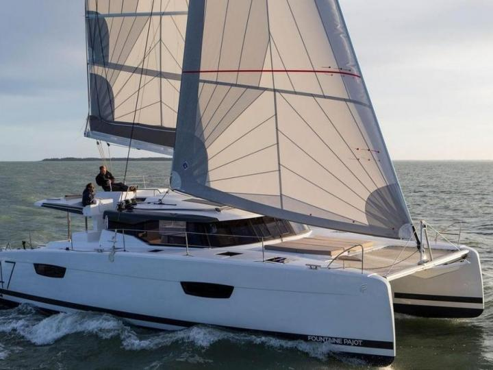 Catamaran boat for rent in Key West, United States, for up to 10 guests.