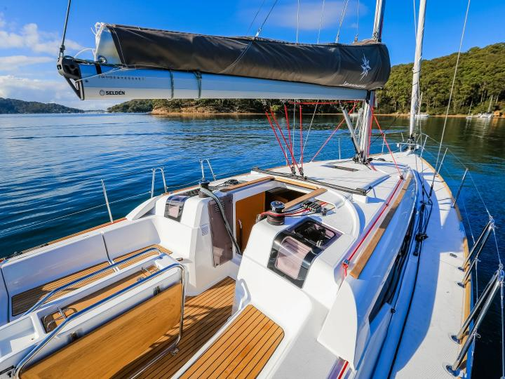 Book a vacation on a rented boat in Portocolom, Spain for up to 6 guests.