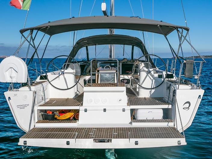 Sail boat rental in Portisco, Italy, for up to 10 guests.