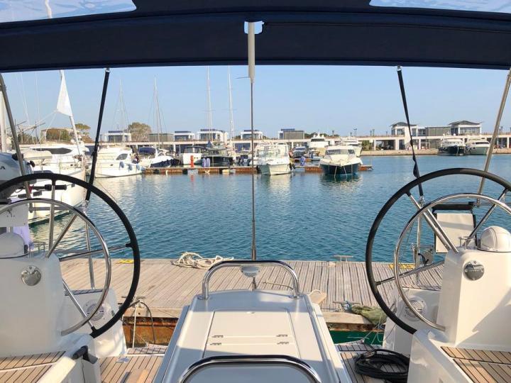 The best boat rental in Elliniko, Greece - amazing Sun Odyssey 519 sailboat for rent.