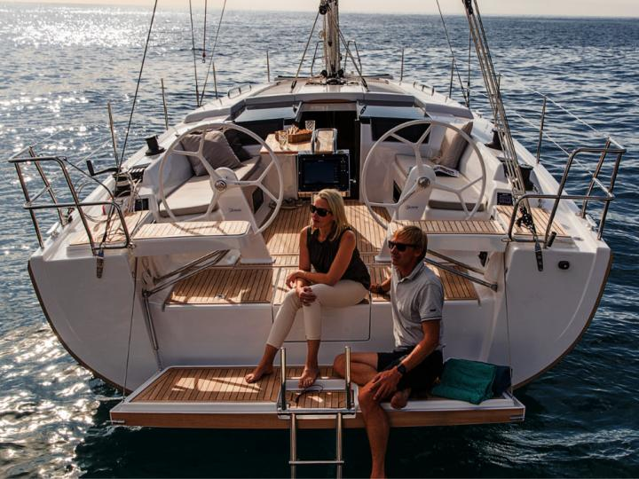 A sail boat rental in Göcek, Turkey  - charter a boat for up to 6 guests.