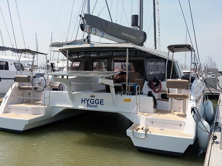 Rent a beautiful 39ft catamaran near Palma, Spain - the best vacation option - a yacht charter.
