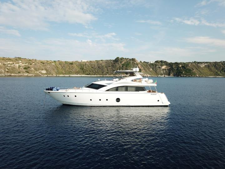 Available for rent motorboat in Milazzo, Italy for up to 8 guests.