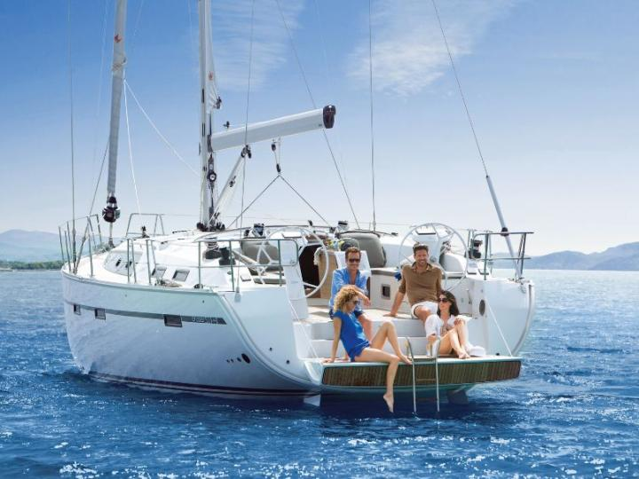 Discover sailing in Sardinia aboard the 51ft Nora boat for rent - a 5-cabin yacht charter