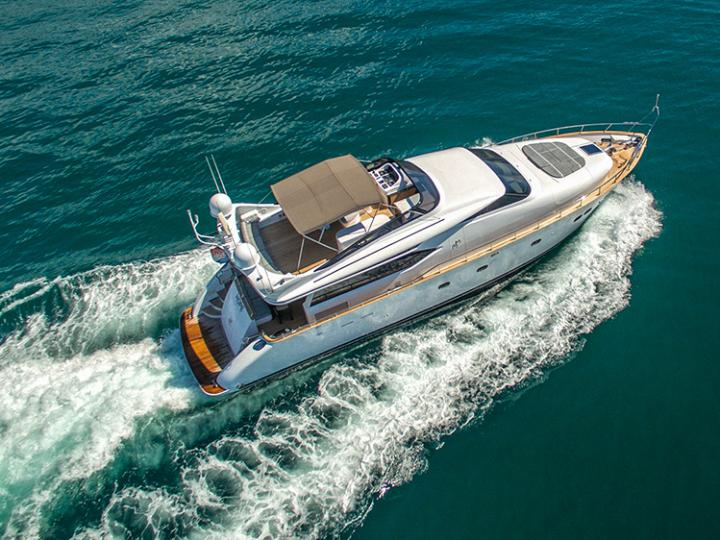 Power boat for rent in Split, Croatia for up to 8 guests - discover the Adriatic on a yacht charter.