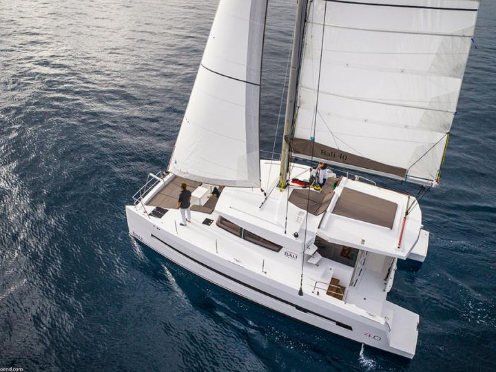 The best catamaran for rent - the Summer Son yacht charter in Dubrovnik, Croatia.