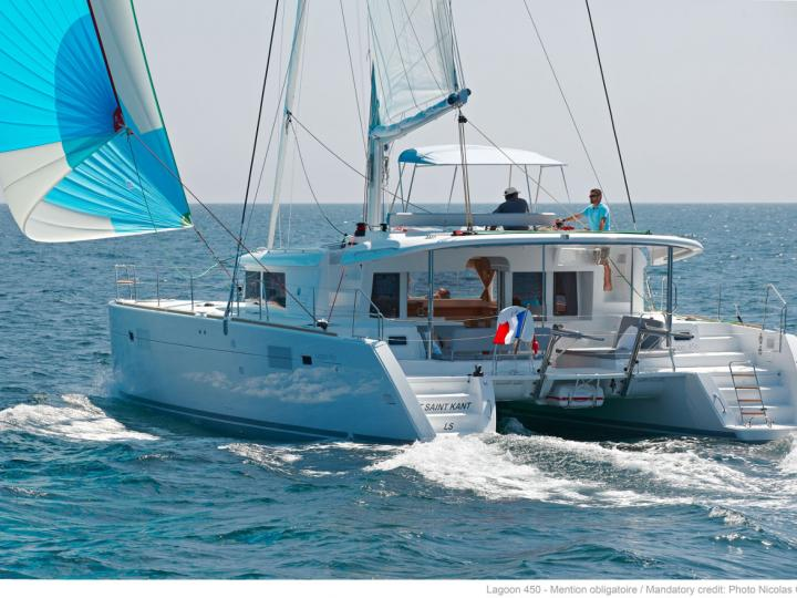 Cruise the beautiful shores of Newport, Rhode Island aboard this great catamaran for rent.