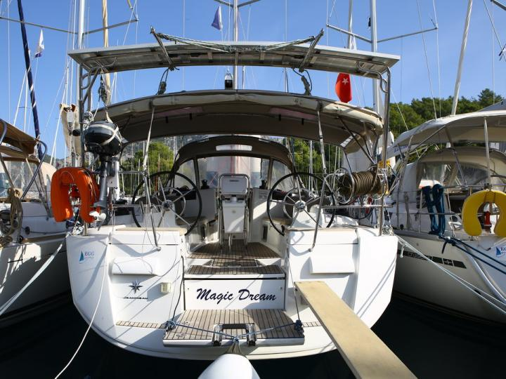 Boat rental in Göcek, Turkey, for up to 6 guests.