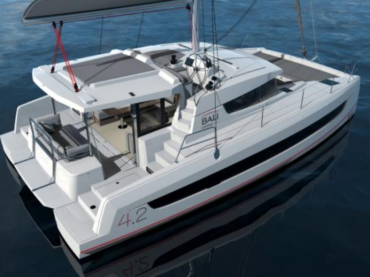 Sail on a Catamaran in Newport, United States - the ultimate vacation trip on a yacht charter for 6 guests.