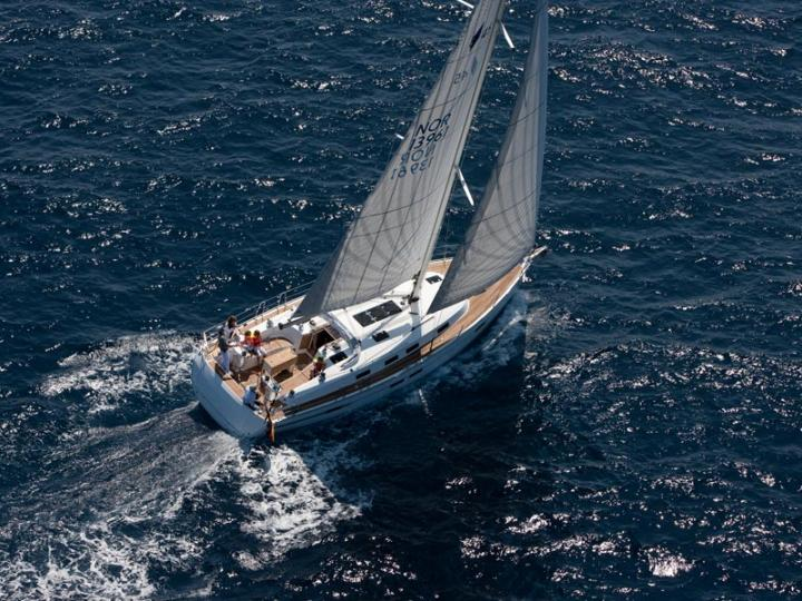 Sail boat for rent in Scarlino, Italy for up to 8 guests.
