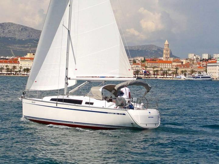 Affordable new sailboat for rent in Split, Croatia.