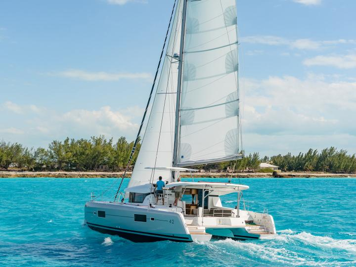 Cappero - one of the best catamaran rentals in Salerno, Italy.