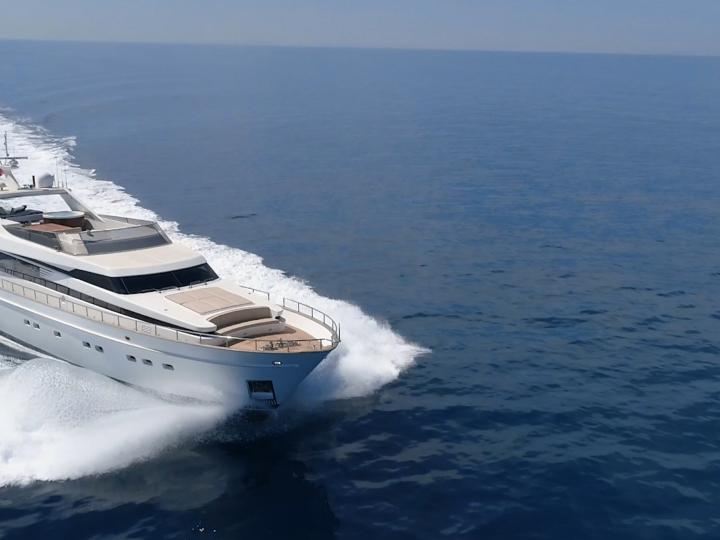 Sail on a beautiful 85ft Motor Yacht for 8 guests in Cannigione, Sardinia, Italy - the ultimate vacation trip on a yacht charter