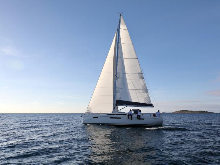 A great sailboat for rent in Primošten, Croatia.