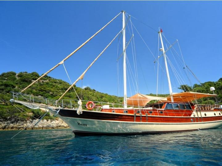 Private Gulet for charter in Fethiye, Turkey for up to 8 guests.
