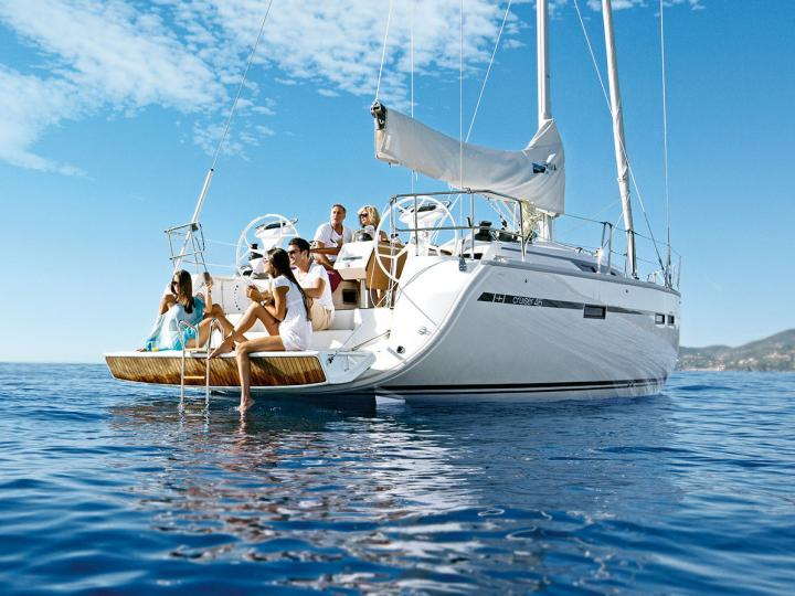 Sailboat rental in Cannigione, Sardinia, Italy for up to 8 guests.