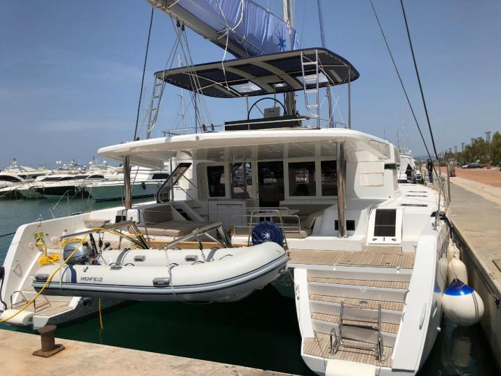 Cyclades, Greece catamaran charter - rent a boat for up to 12 guests.