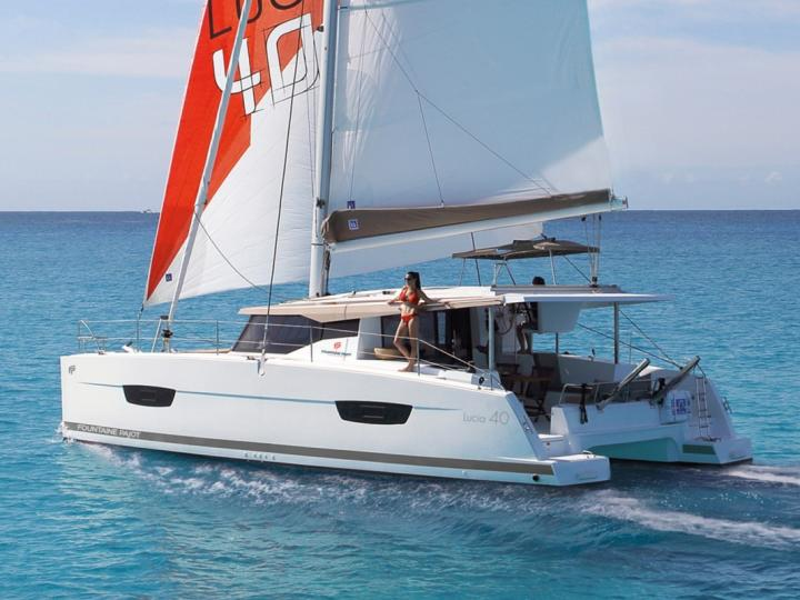 Charter a catamaran in Athens, Greece - a perfect vacation trip on a boat for up to 8 guests.