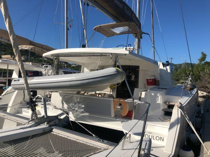 Yacht charter in Antigua, Caribbean Netherlands - a 8 guests Catamaran for rent.