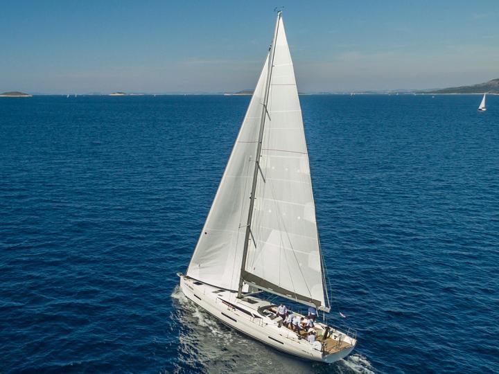 Beautiful charter sailboat in Primošten, Croatia.