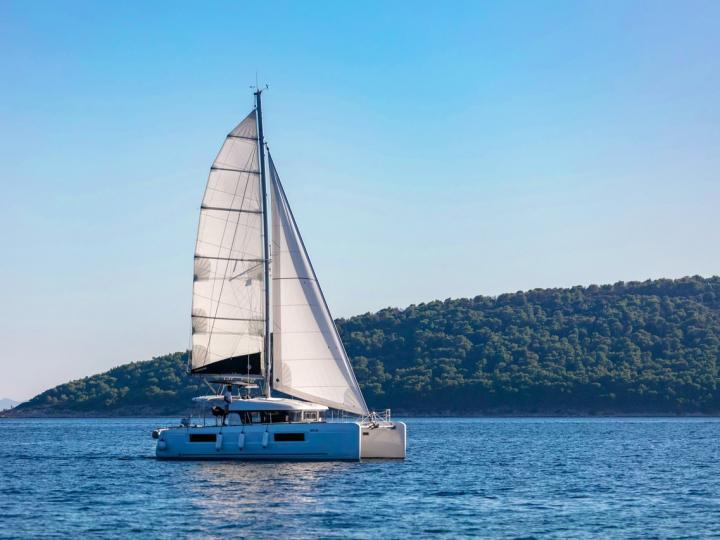 Top catamaran boat for rent in Kaštel Gomilica, Croatia.
