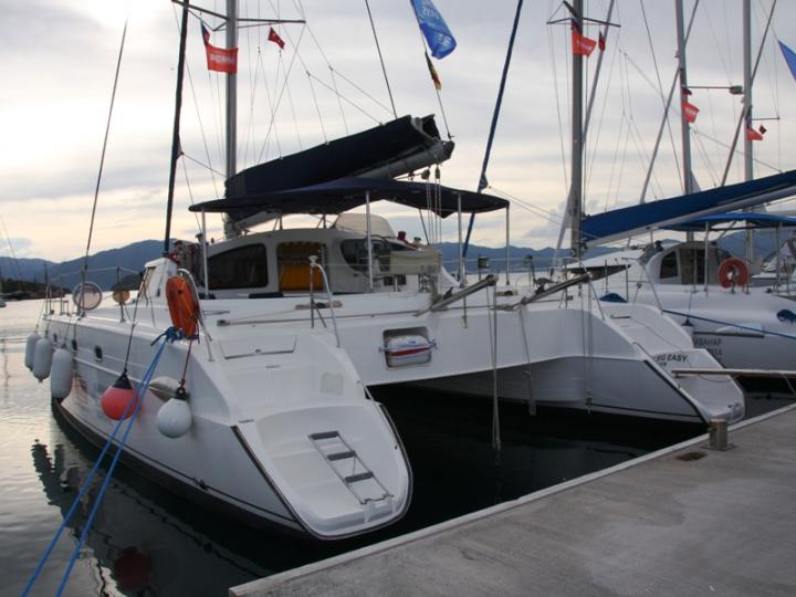 Charter a catamaran boat in Marmaris, Turkey - the The Big Easy for 8 guests.