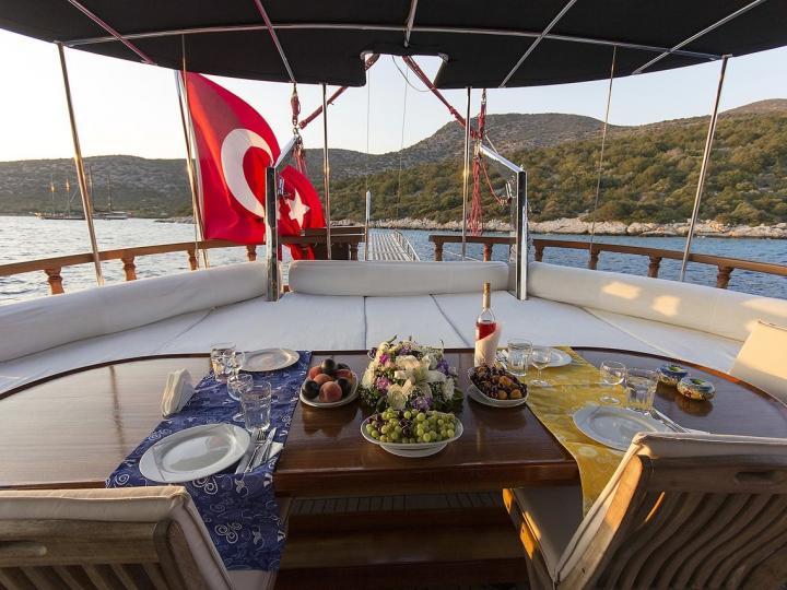Charter Gullet boat in Bodrum, Turkey!