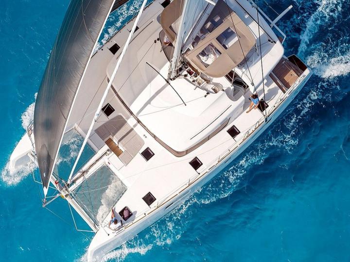 A gorgeous catamaran for rent - discover Trogir, Croatia aboard a yacht charter.