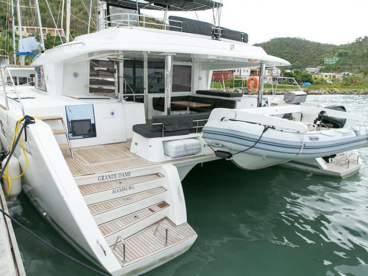 Enjoy the beautiful waters of British Virgin Islands aboard the Grande Dame - catamaran for rent.