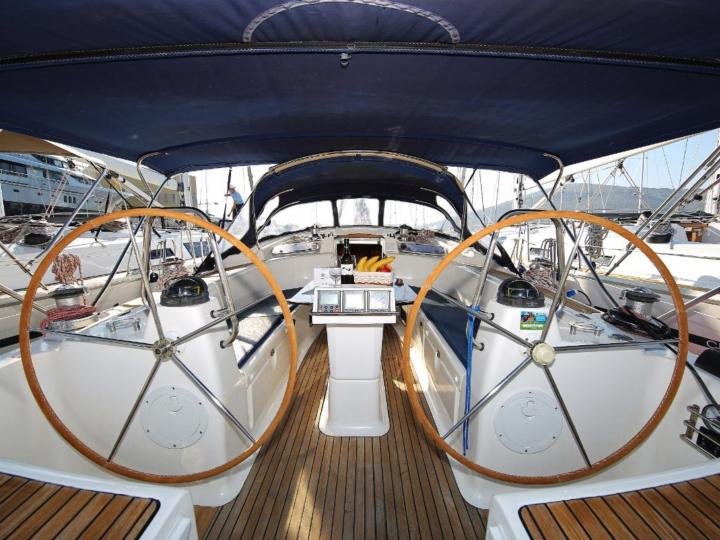 Sailing yacht for rent in Split, Croatia, for up to 10 guests.