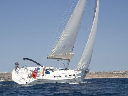 Discover sailing aboard the 43ft Pucci boat for rent in Tonnarella, Italy - a 3-cabin yacht charter.