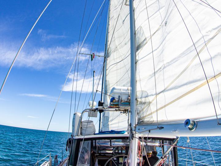 Sail and dive boat
