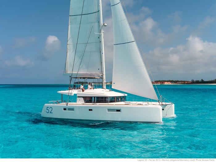 Catamaran rental in Palma, Mallorca - a catamaran JOLIE for up to 12 guests.
