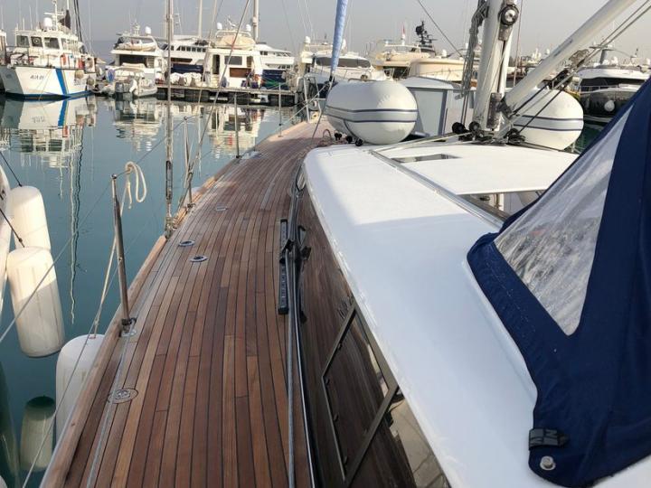 Affordable Bénéteau Sense 51 yacht for rent in Agios Kosmas Marina, Athens, Central Greece.