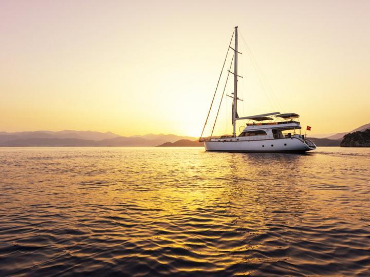 75ft Gullet charter in Fethiye, Turkey.