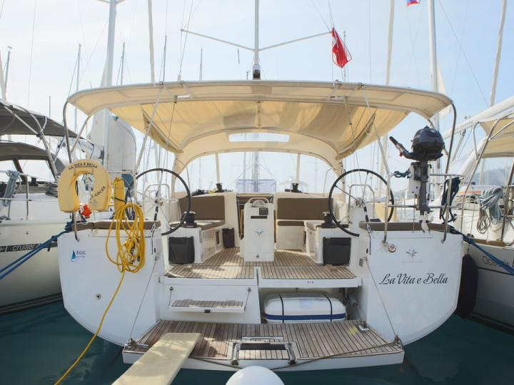 Sail boat rental in Göcek, Turkey, for up to 6 guests.