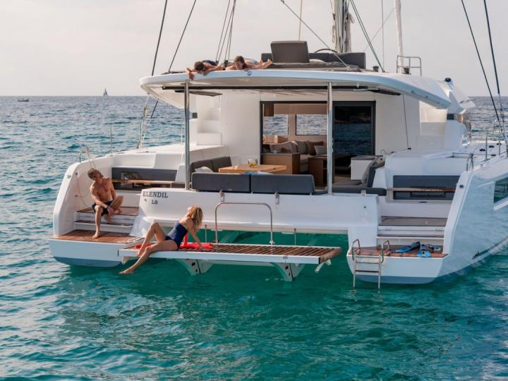 Discover sun-drenched beaches and all Road Town, BVI can offer aboard a catamaran for rent.