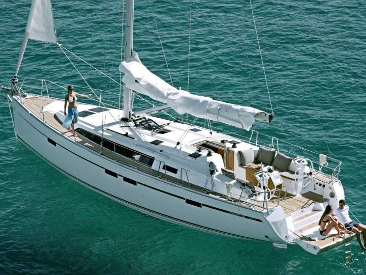 Charter a sailboat in Athens, Greece - sail the Cyclades on the Hildr boat for 8 guests.