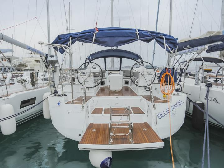 Charter a spacious sailboat near Split, Croatia - the Blue Angel yacht for 10 guests.