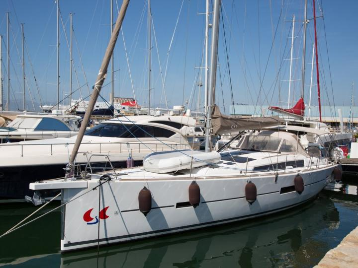 Private boat for rent in Portisco, Italy for up to 10 guests.