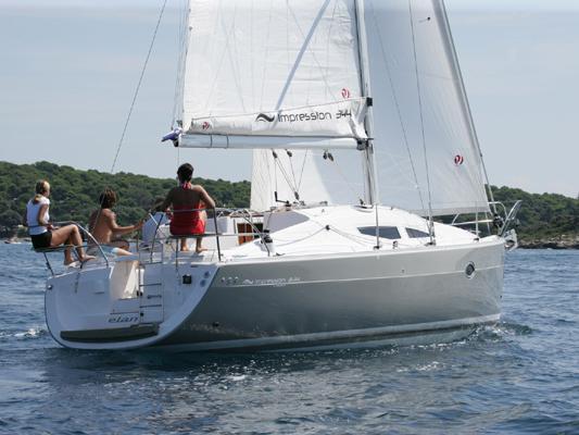Rent a beautiful 34ft yacht charter in Primošten, Croatia - the Sea Bird boat for rent.