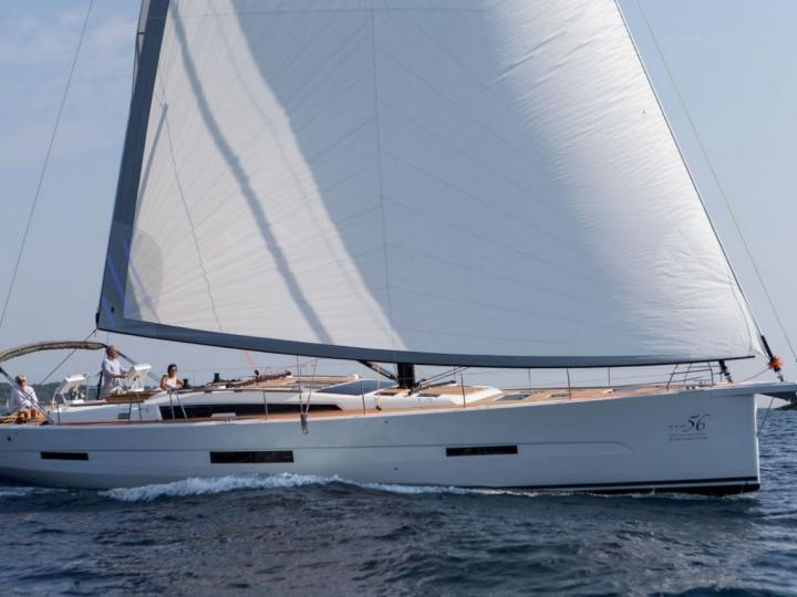 Sail boat for rent in Portisco, Italy.