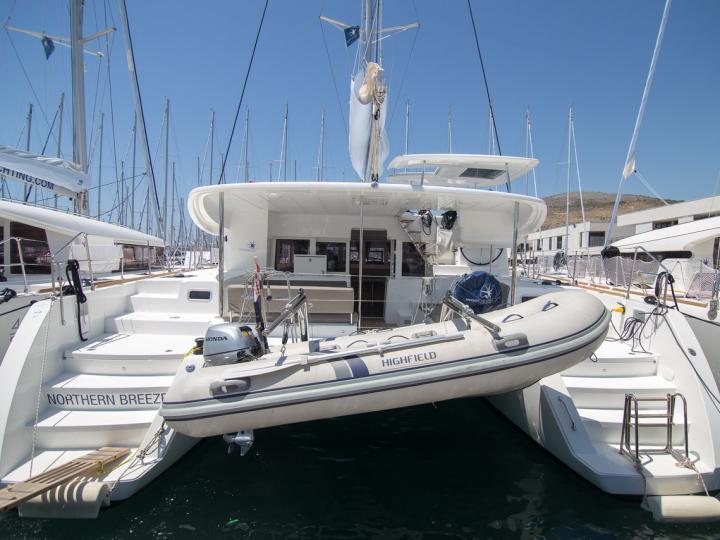 Discover sailing aboard the 46ft Northern Breeze catamaran for rent in Split, Croatia