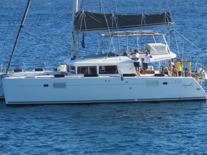 The best catamaran for rent in Arona, Spain - amazing yacht charter for 8 guests.