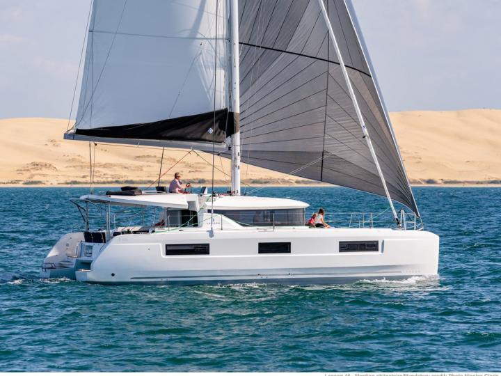 Affordable catamaran for rent in Portisco, Italy.