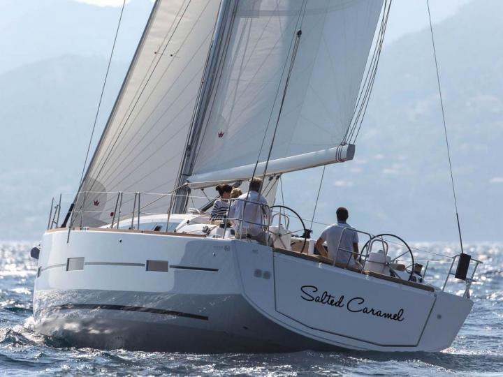 Sail aboard the 46ft Salted Caramel boat for rent in Lavrio, Greece - a 5-cabin yacht charter.