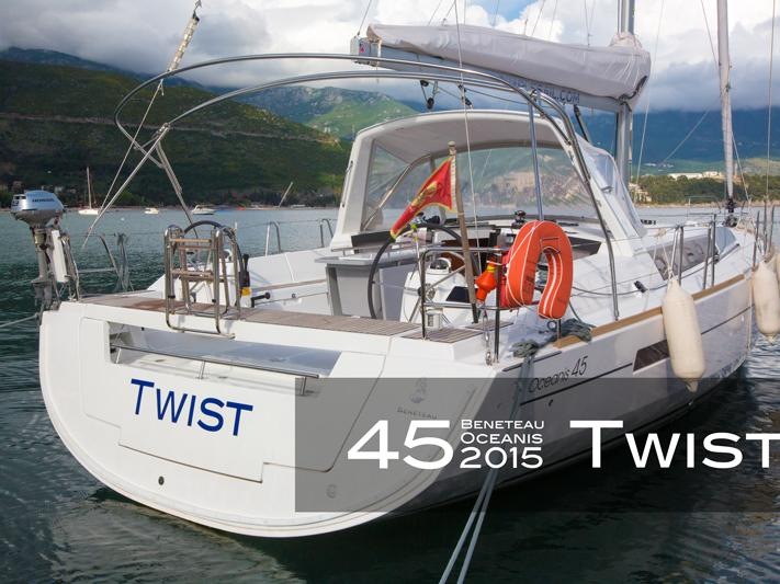 Private boat for rent in Tivat, Montenegro for up to 8 guests.