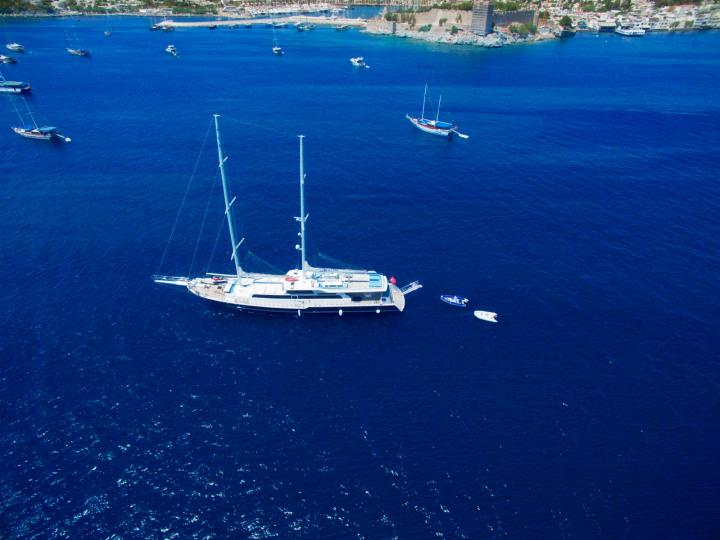 This wonderful ultra luxury gulet yacht 39 m. and for 14 people